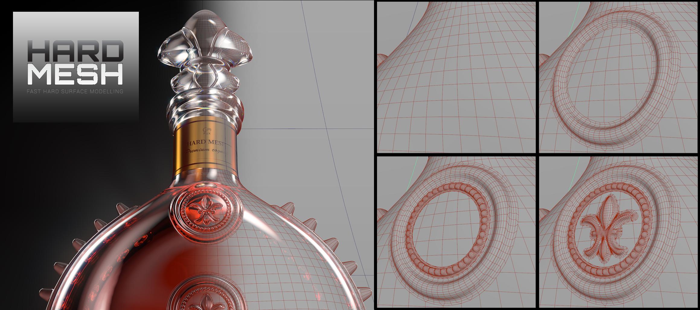 Pux 3D - Hardmesh Maya plug-in